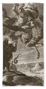 Bellerophon Fights The Chimaera, 1731 Beach Towel