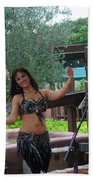 Belly Dancer And Performer At Morocco Pavilion Beach Towel