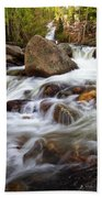 Below Alberta Falls II Beach Towel