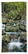 Below Mina Sauk Falls 1 Beach Towel