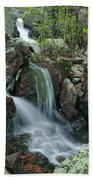 Below Mina Sauk Falls 4 On Taum Sauk Mountain Beach Towel