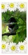 Belted Kingfisher In The Midst Beach Towel