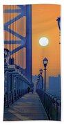 Ben Franklin Bridge Walkway Beach Sheet