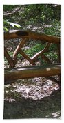 Bench Made Of Tree Branches Beach Towel