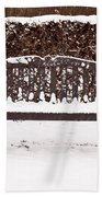 Bench In The Snow Beach Towel