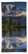 Bench Lake Sunrise Beach Towel