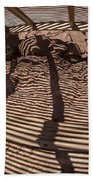 Benches At Meteor Crater In Arizona Beach Towel