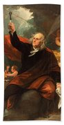 Benjamin Franklin Drawing Electricity From The Sky Beach Towel