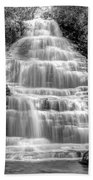 Benton Falls In Black And White Beach Towel