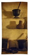 Bent's Old Fort Kitchen Fireplace Beach Towel
