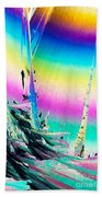 Benzoic Acid Microcrystals Coloful Abstract Art Beach Towel