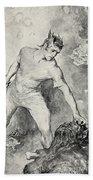 Beowulf Shears Off The Head Of Grendel Beach Towel by John Henry Frederick Bacon