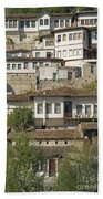 Berat Old Town In Albania Beach Towel