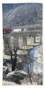 Bernina Express In Winter Beach Towel