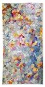 Berries Around The Tree - Abstract Art Beach Towel