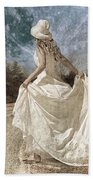Beside Myself The Moon Beach Towel by Betsy Knapp