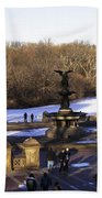 Bethesda Fountain 2013 - Central Park - Nyc Beach Towel by Madeline Ellis
