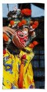 Bian Jiang Dancer Acanthus Beach Towel
