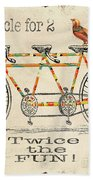 Bicycle For 2 Beach Towel