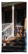 Bicycle On Porch Beach Towel