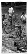 Bicycle Repair In Amarapura Beach Towel