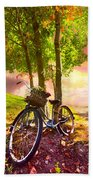 Bicycle Under The Tree Beach Towel