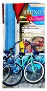 Bicycles And Chocolate Beach Towel