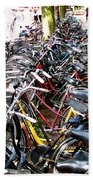 Bicycles In Amsterdam Beach Towel
