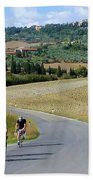 Bicycling In Tuscany Beach Towel