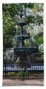 Bienville Square Fountain Closeup Beach Towel