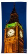 Big Ben At Night Beach Towel