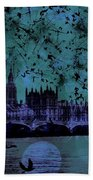 Big Ben On The River Thames Beach Towel