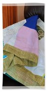 Big Blocks Patchwork Quilt Beach Towel
