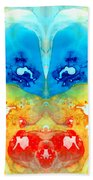Big Blue Love - Visionary Art By Sharon Cummings Beach Towel
