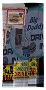Big Daddy's Drive Inn Auburn Wa Beach Towel