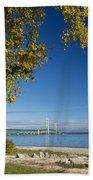 Big Mackinac Bridge 57 Beach Towel