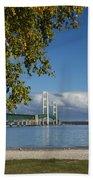 Big Mackinac Bridge 68 Beach Towel