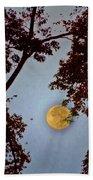 Big Old Autumn Moon Beach Towel