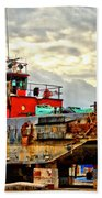 Big Ship Rising Beach Towel