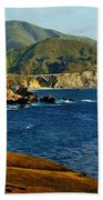 Big Sur Coastline Beach Towel by Benjamin Yeager