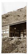 Big Sur Hot Springs Now The Esalen Institute California Circa 1961 Beach Towel