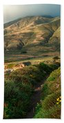 Big Sur Trail At Soberanes Point Beach Towel