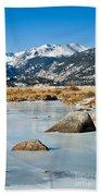 Big Thompson River Through Moraine Park In Rocky Mountain National Park Beach Towel