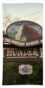 Big Thunder Ranch Signage Frontierland Disneyland Beach Towel