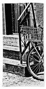 Bike In The Sun Black And White Beach Towel