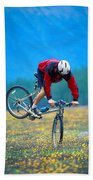 Bike Stunt Beach Towel
