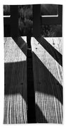 Bike Trail Bridge Bw Beach Towel