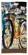 Bikes Hanging Around Beach Towel