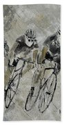 Bikes In The Rain Beach Towel