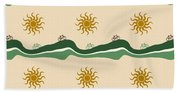 Bike Pattern Beach Towel